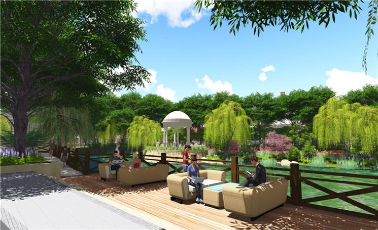 为设计理念来打造庭院深深的自然公园式的高端别墅景观.