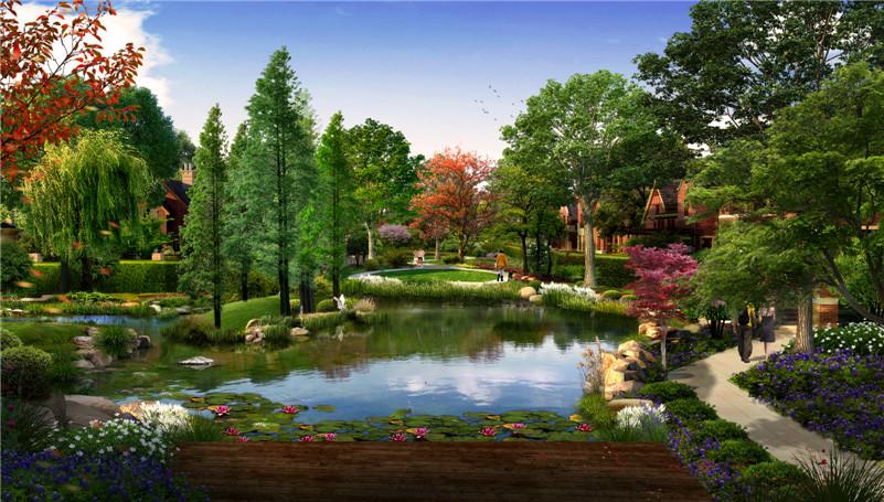 """景观设计以""""大隐于市,大宅若藏""""为设计理念来打造"""