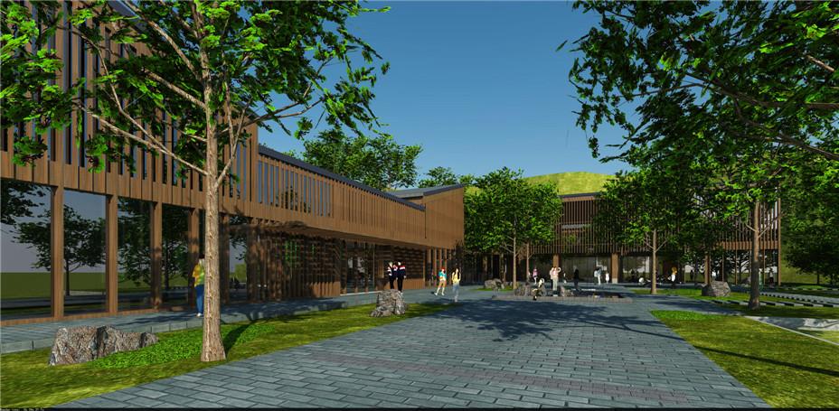 项目简介:    本项目设计范围是已建售楼处入口广场区域,售楼处南