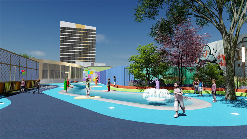 """项目简介:            本项目为镇江商业广场屋顶景观设计,以""""星光乐"""
